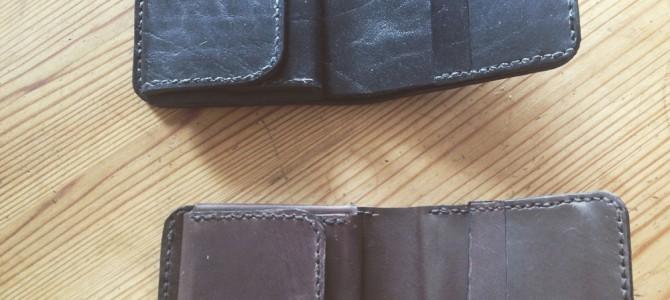 【新商品】手縫い二つ折り財布