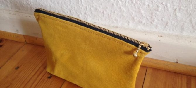 Mustard colored leather pouch is available again!